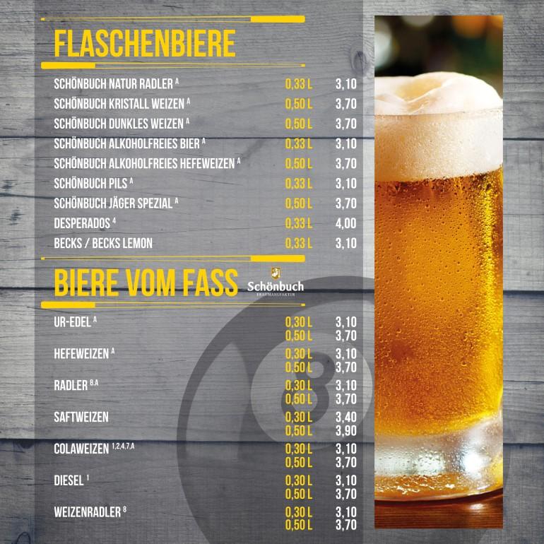 Flaschenbiere/ Biere Vom Fass