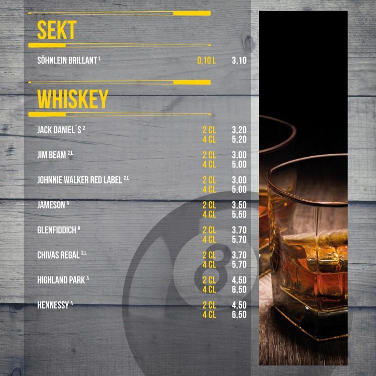 Sekt/Whiskey